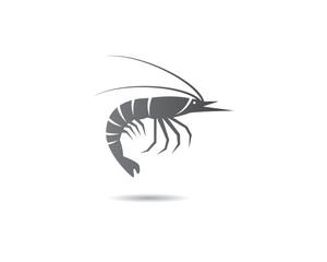 Shrimp logo template