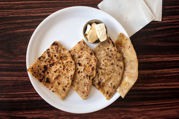 Traditional Indian flat cakes - chapatis