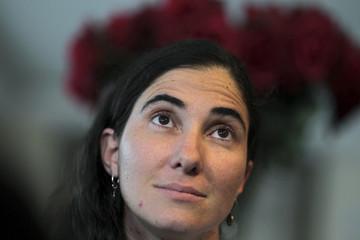 Cuban blogger Yoani Sanchez  speaks at Classe Apart Hotel in Feira de Santana