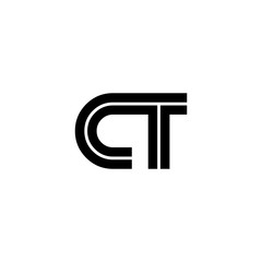 Initial Letter CT Linked Design Logo