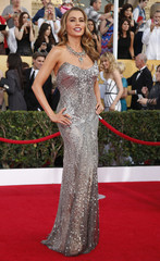 """Actress Sofia Vergara from the comedy """"Modern Family"""" arrives at the 20th annual Screen Actors Guild Awards in Los Angeles"""