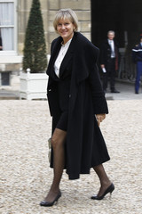 French Professional Education junior Minister Nadine Morano arrives at the Elysee Palace in Paris