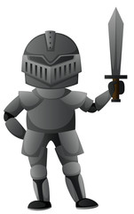 Knight with iron armour