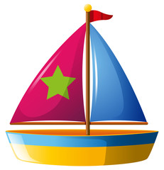 Toy boat with star on sail
