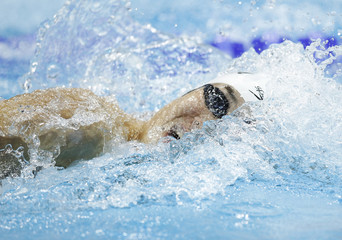Yuki Kobori of Japan competes in the men's 100m freestyle heats at the British Gas Swimming Championships 2012 in London