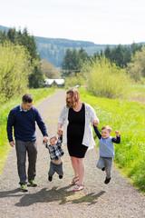 Family of Four Lifestyle Portrait
