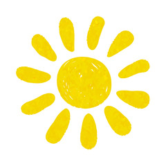 hand drawn watercolor sun icon. design for holiday greeting card and invitation of seasonal summer holidays, summer beach parties, tourism and travel