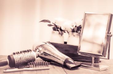 Hair Salon background photo-B&W