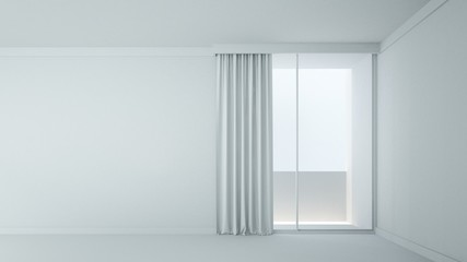 The interior minimal empty space in home - 3D Rendering