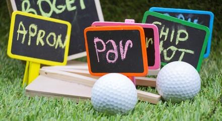 Golf term Par with golf balls