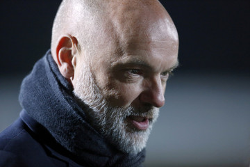 Fleetwood Town manager Uwe Rosler is interviewed before the match