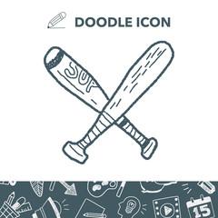 baseball bat doodle