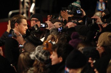 DiCaprio is greeted by fans as he arrives for the screening of the movie Shutter Island at the 60th Berlinale International Film Festival in Berlin