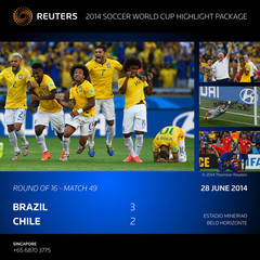 ATTENTION EDITORS - BRAZIL 2014 WORLD CUP MATCH HIGHLIGHT PICTURE PACKAGE