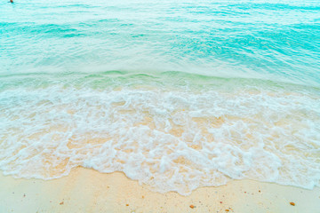 Beautiful tropical beach and sea landscape