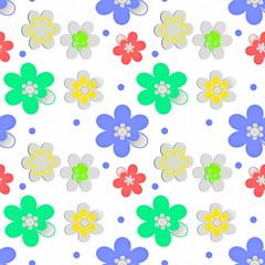 бесшовный декоративный узор цветочный текстура ткань