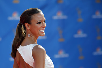 Eva LaRue, from the drama series CSI: Miami, arrives at the 62nd annual Primetime Emmy Awards in Los Angeles
