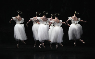 """Ballerinas from Paris Opera Ballet dance during full dress rehearsal for """"Giselle"""" at Esplanade Theatre in Singapore"""