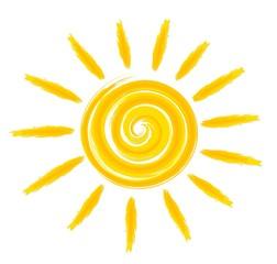 Bright summer sun.