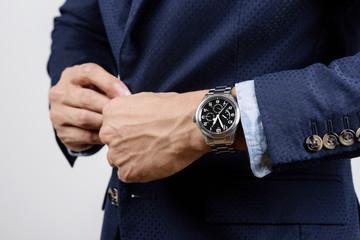 wristwatch on wrist