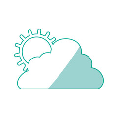 sun cloud weather vector icon illustration graphic design