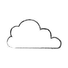 cloud weather draw vector icon illustration graphic design
