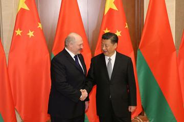 Belarus President Alexander Lukashenko and Chinese President Xi Jinping meet in Beijing