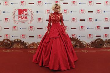 British singer Ora arrives on the red carpet for the MTV European Music Awards 2012 at the Festhalle in Frankfurt