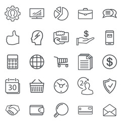 Business Abstract line Icons. Modern Web Collection Isolated on white background.
