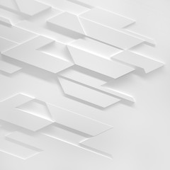 White Futuristic Background (3d illustration)