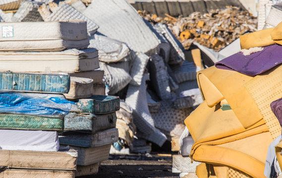 Mattress recycling facility operating at zero waste.