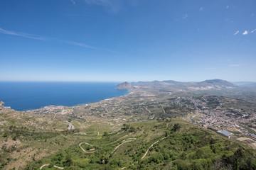 Panorama da Erice, San Vito Lo Capo, Sicilia