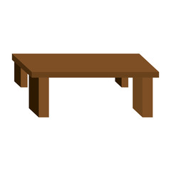 table furniture wood vector icon illustration design graphic