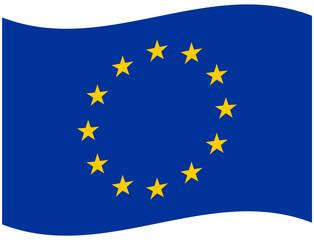 Europa Flagge Wehend - Vektorgrafik