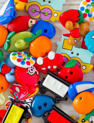 pile of colorful buttons