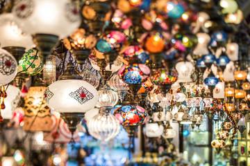 colorful turkish lanterns