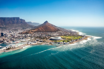 Fond de hotte en verre imprimé Afrique Aerial view of Capetown, SOuth Africa