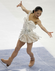 Suzuki of Japan competes in the ladies free program during the Cup of Russia figure skating competition in Moscow