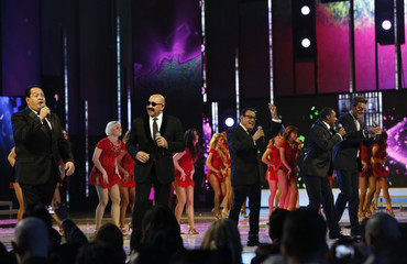 """The Salsa Giants perform """"Para Celebrar"""" onstage during the 14th Latin Grammy Awards in Las Vegas"""