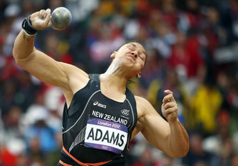 New Zealand's Valerie Adams competes in the women's shot put final at London 2012 Olympic Games