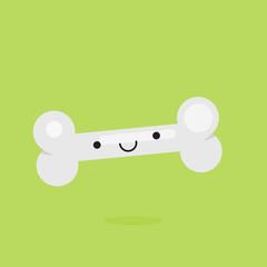 Bone character vector illustration