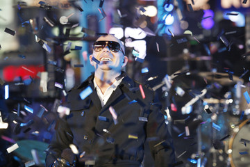 Pitbull performs during New Year's Eve celebrations in Times Square in New York