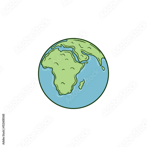 Earth Simple Draw Vector Stock Image And Royalty Free Vector Files