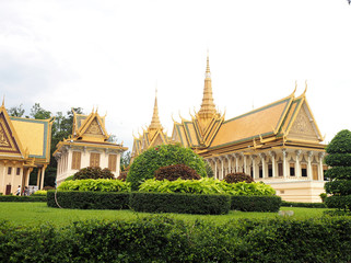 PHNOM PENH, CAMBODIA - 5 May, 2017: Royal palace in Phnom Penh, Cambodia.