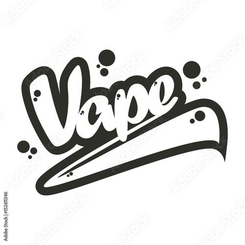 Vape Vintage Lettering Design