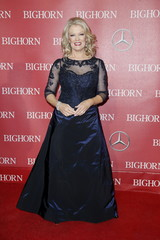 Television Personality Mary Hart poses at the 27th Annual Palm Springs International Film Festival Awards Gala in Palm Springs