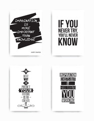 Poster Positive Typography Set posters quote