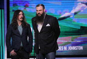 Producers Johnston and Halbrook accept the Piagot Producer's award on stage at the 2014 Film Independent Spirit Awards in Santa Monica