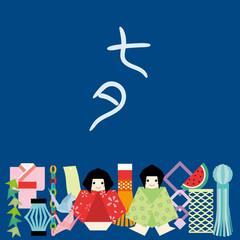 七夕飾り カード