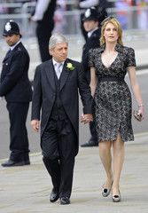 File photo of Speaker of the House of Commons John Bercow and wife Sally arriving at Westminster Abbey